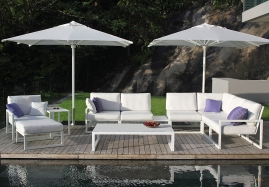 Lounge set modulare NINIX e ombrellone SHADY mod. SHA35VW