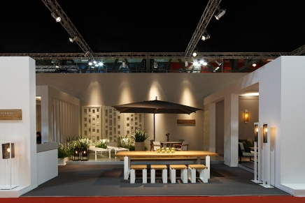 Stand Royal Botania at Salone Internazionale del Mobile di Milano