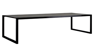 Tavolo NNX300 con struttura in acciaio verniciato nero e piano in ceramica
