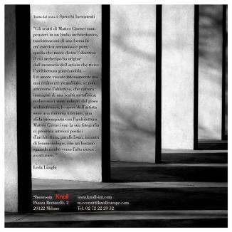 """Invito della mostra """"Specchi Inesistenti"""" (retro)"""