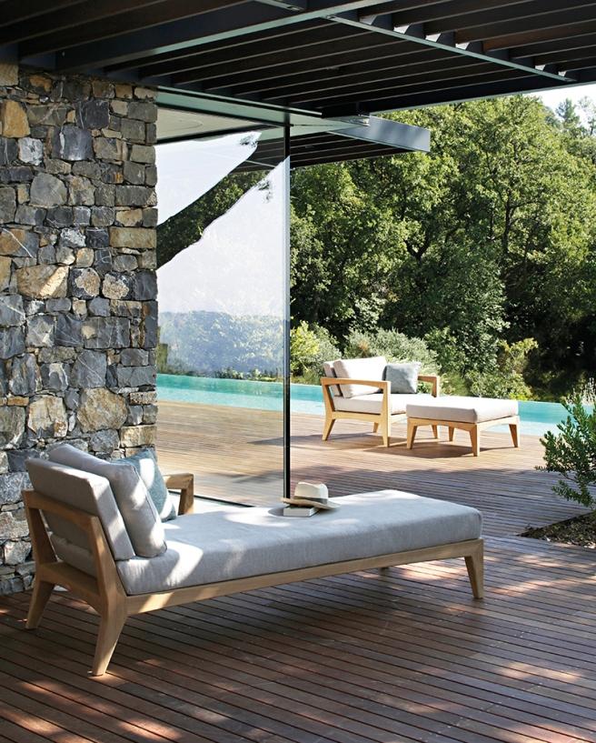 ZenHit lounge daybed, e poltrona con poggiapiedi
